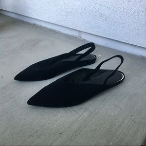 Pointy sling back flats from Zara 7